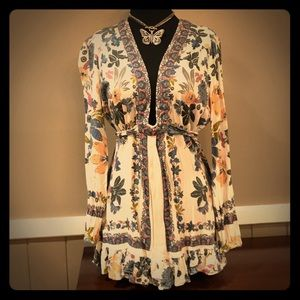 Free people floral Tunic size 10